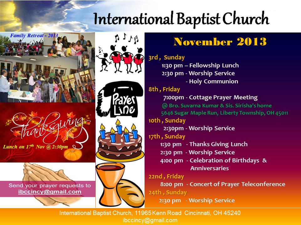 IBC-Monthly Bulletin - Nov 2013