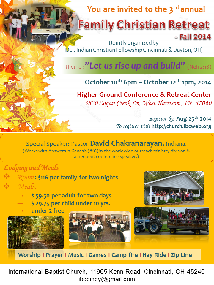 IBC Family Retreat Flyer
