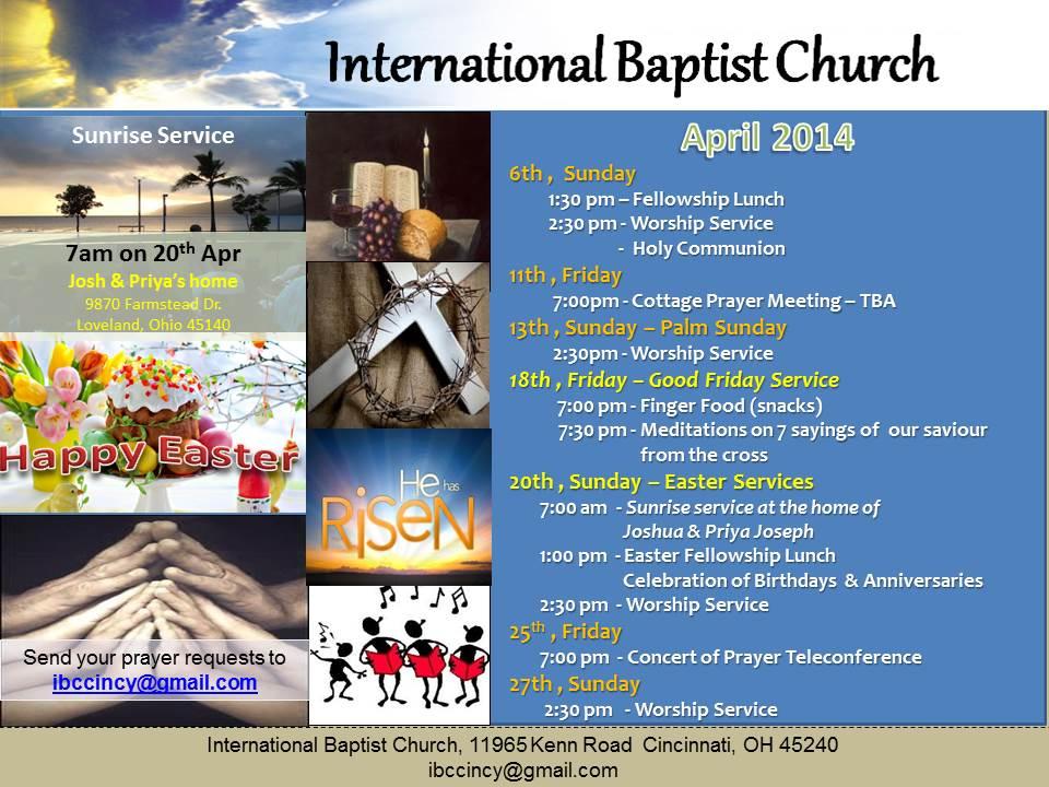 IBC Monthly Bulletin - April 2014